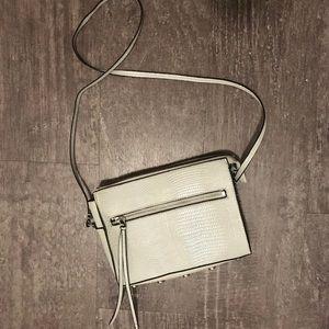 Gray Snake-print Crossbody Bag